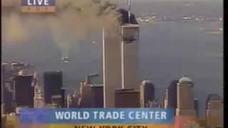 9 11テロ 2機目突入の瞬間 某局 中継録画 飛行機はCG? thumbnail