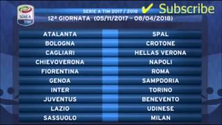CALCIO-TUTTO IL CALENDARIO-SERIE A 2017-18  (38 GIORNATE)