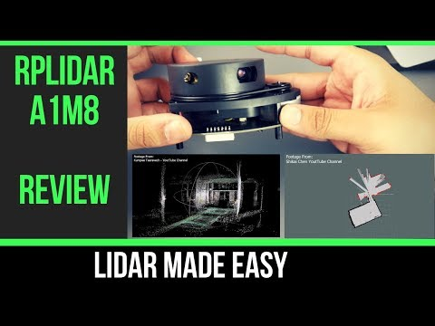 New $99 #DIY Lidar // RPLiDAR A1M8 360 Degree Laser Scanner Kit - 12M Range