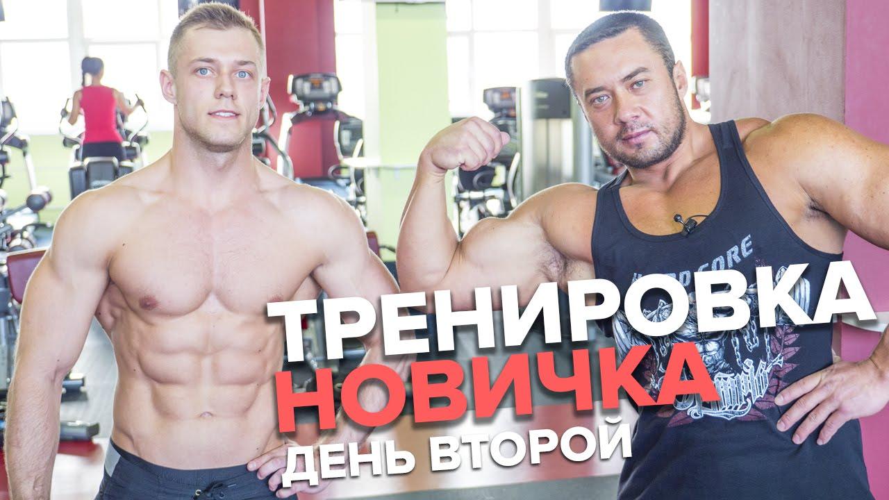 Тренировка для новичка: Спина и Бицепс (День 2). Сергей Югай