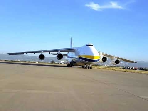 BIGGEST RUSSIAN CARGO ANTONOV AN 124 LANDING IN ALGIERS AIRPORT