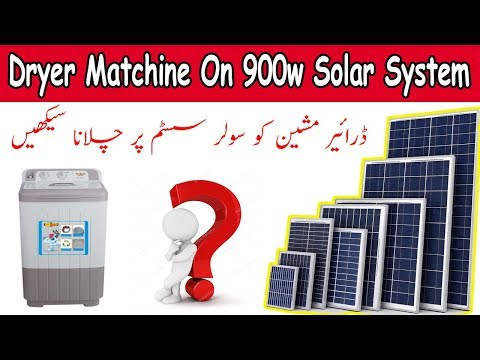 Clothes Dryer Machine On Solar System