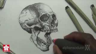 Drawing a Skull with Alphonso Dunn of