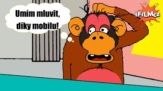 #35 Šimpanz neuznává evoluci, ale umí mluvit, díky mobilu! Je chytřejší než redaktor?