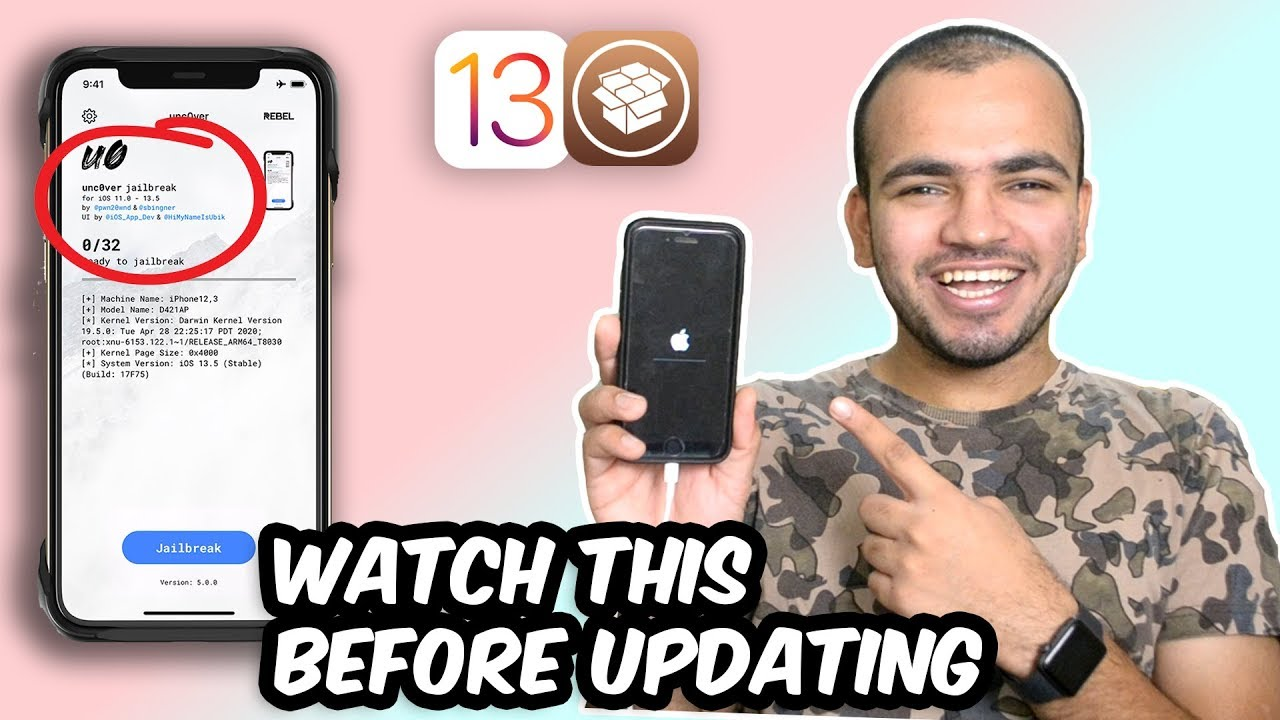 How To Update To Ios 13 5 To Jailbreak Properly From Lower Ios Unc0ver For Ios 13 5 Be Prepared Youtube