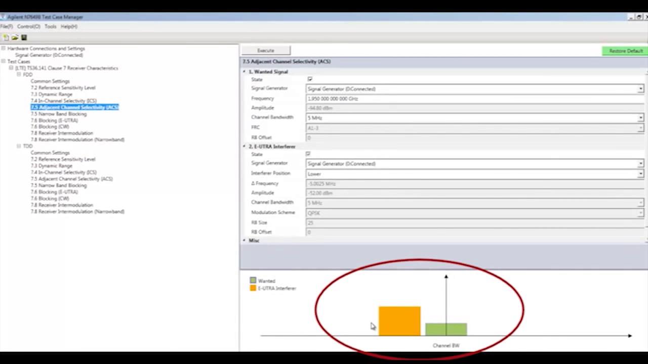 LTE eNB Receiver Testing   N7649B Test Case Manager   Keysight Technologies