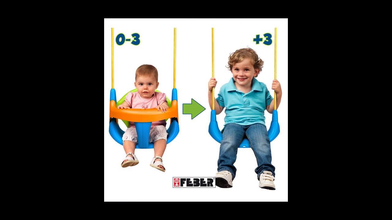 Asientos y sillas para columpios tienda online de for Sillas para bebes de madera