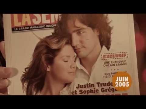 Le passé de Sophie Grégoire et Justin Trudeau par les revues