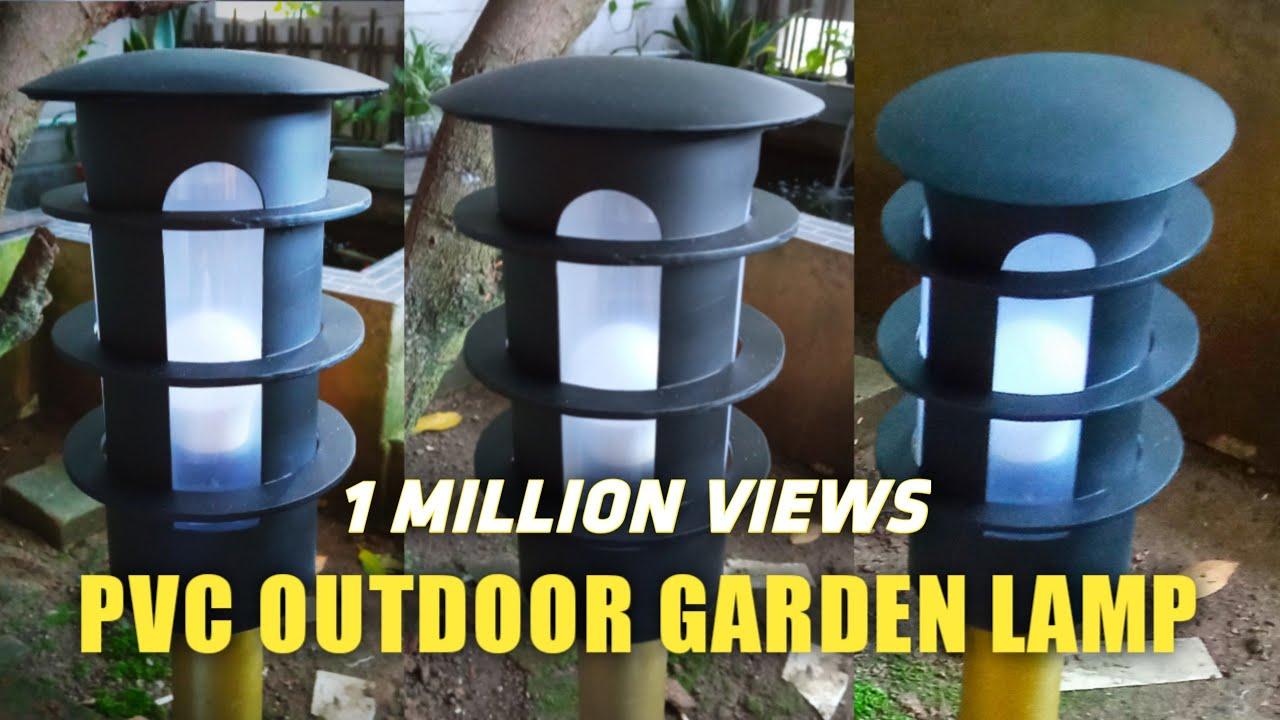 Diy Outdoor Garden Lamp From Pvc Lampu Taman Minimalis Dari Pipa Paralon Youtube