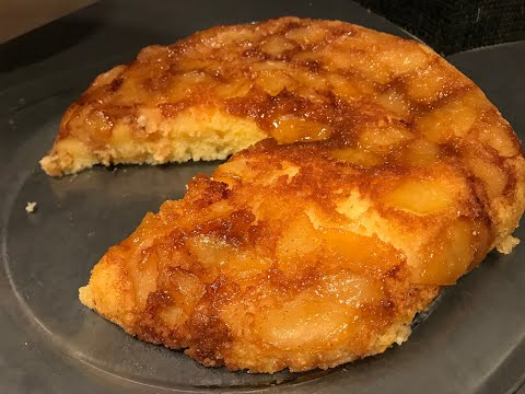 gâteau-aux-pommes-à-la-poêle