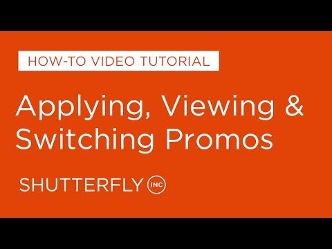 How to Apply, View, Change Promotions on Shutterfly image
