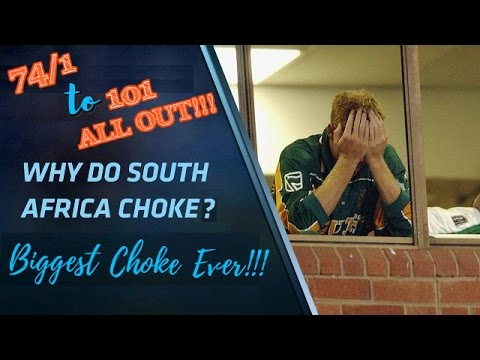 74/1 to 101 ALL OUT!!! South Africa's Biggest Choke Ever in Cricket History!