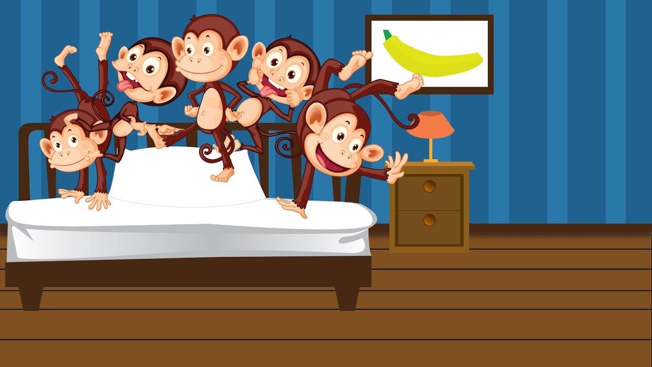 5 Little Monkeys Jumping On The Bed - YouTube
