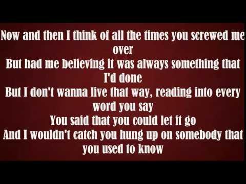 Somebody that i used to know. Remix 4FRNT Lyrics.
