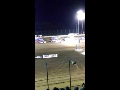 4 wide salute @ laSalle Speedway