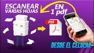ESCANEAR varias hojas EN UNO SOLO PDF! 📲🖨 | Android y iOS | Trucos en 3 minutos