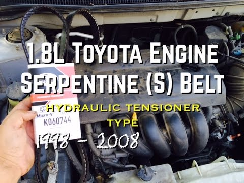 DIY 18L Replace S Serpentine Belt 18L Toyota Corolla