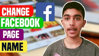 how to Change Facebook Page name With Your Phone  Technical Bangla nahid