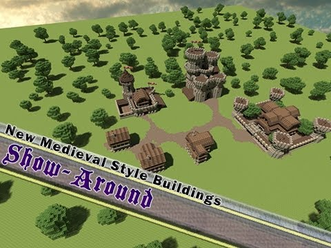 Minecraft, Show-Around New Medieval Style Buildings!