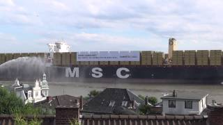 MSC Zoe approaches Hamburg for the first time,