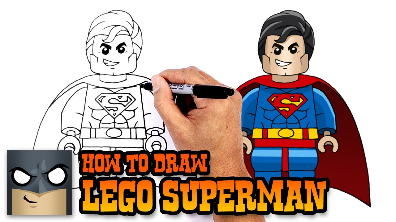 lego superman drawing wwwpixsharkcom images