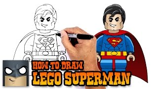 How to Draw Lego Superman | Drawing Lesson