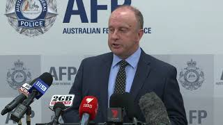 Australian Federal Police Conference on Arrest of Alleged North Korean Agent in Sydney