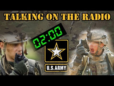 How to talk on an Army radio
