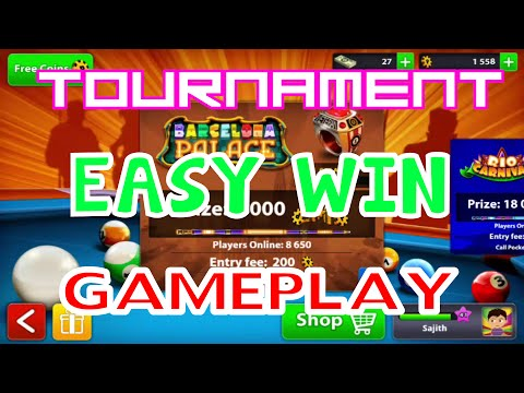 8 Ball Pool - Barcelona Palace Tournament Easy Win