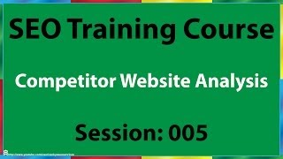 05 How to Analyze Competitors Website for SEO(05 How to analyze competitors website for SEO video outlines methods for analysing online competitor's website. Uploaded by http://goo.gl/poHWXS SEO ..., 2014-04-24T00:19:27.000Z)