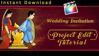 How Edit Wedding Cinematic Invitation Project in FCP X | Final Cut Pro X Tutorial in Hindi | Mantra