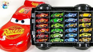 Learning Color Disney Pixar Cars Lightning McQueen big size car case play video for kids