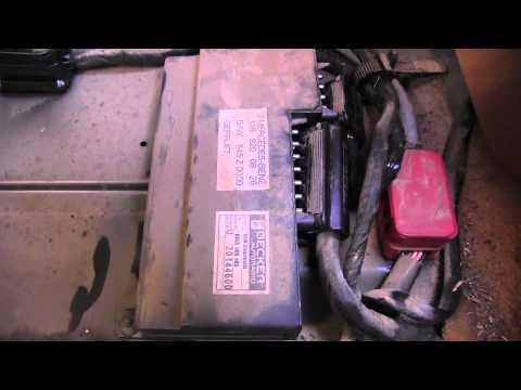 Mercedes Fuse Diagram Mercedes W124 Alarm System Youtube