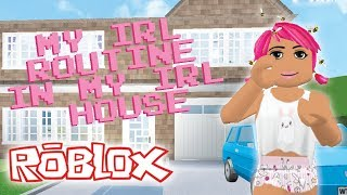 MY IRL SATURDAY ROUTINE IN MY IRL HOUSE | Roblox Roleplay | Welcome to Bloxburg
