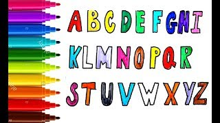 how to draw abc alphabets and number with funny pen and learning books for children