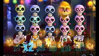 Je reteste le jeu Esqueleto Explosivo - les parties précédentes avaient pas mal payé...
