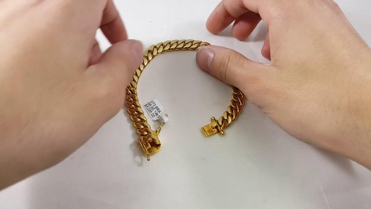 737ceb73a947d 9.5mm Miami Cuban link bracelet