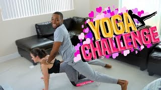 Yoga Challenge With Girlfriend 😱😂