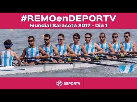 #REMOenDEPORTV - EN VIVO, DÍA 1 - XLVII Mundial de Remo Sarasota 2017