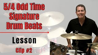 5/4 Drum Beat #1 - JohnX Online Drum Lessons