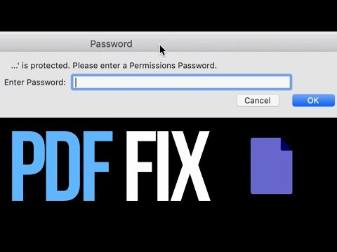 How To Edit A Password Protected PDF On Mac | FREE