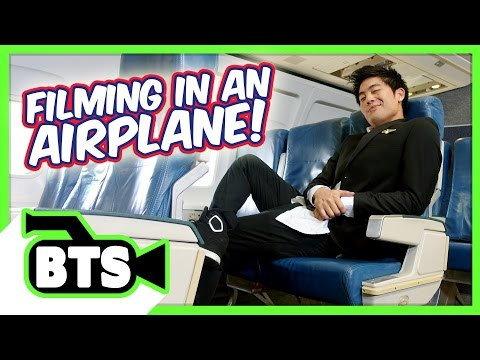 Thumbnail: Filming on an Airplane! (BTS)