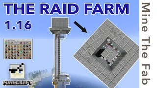 The SIMPLEST Stacking Raid Farm in Minecraft - 1.16 TUTORIAL