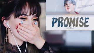 BTS Jimin (지민) - Promise (약속) + Lyrics REACTION