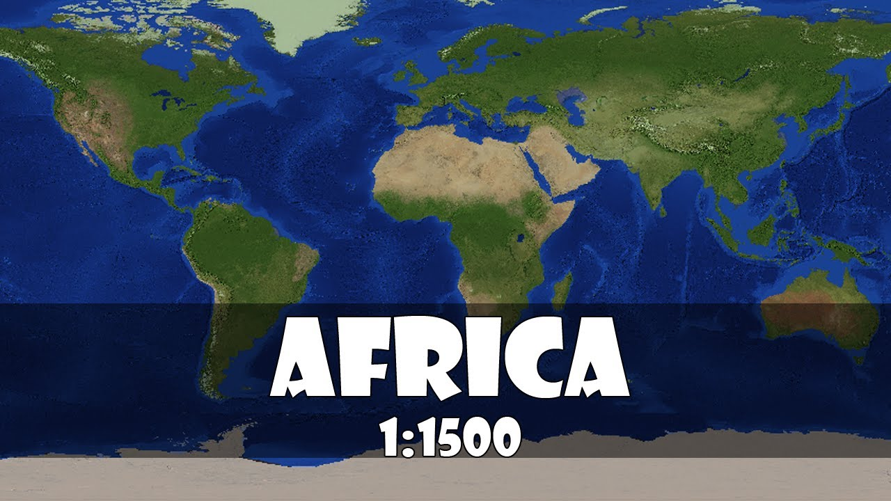 Africa 1:1500 scale in Minecraft   YouTube