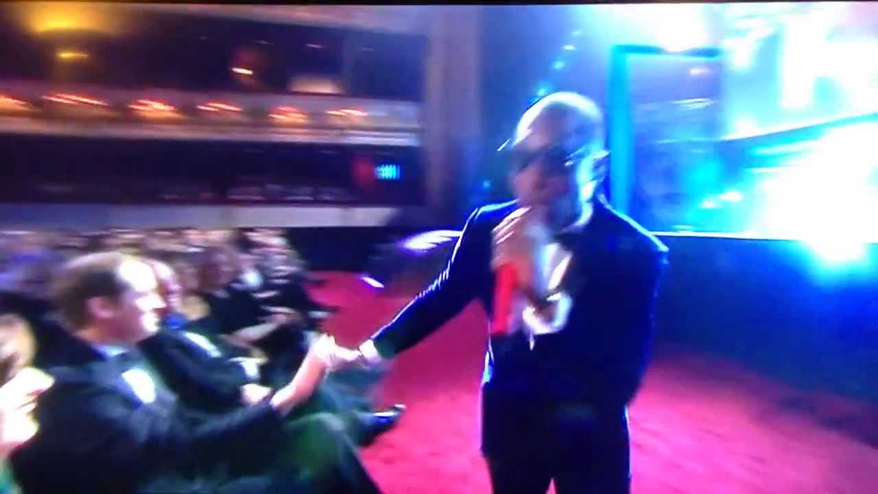 Tinie Tempah Gives Prince William a High Five at the 2014 BAFTA Awards