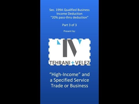 Qualified Business Income (Tax) Deduction (3 of 3)