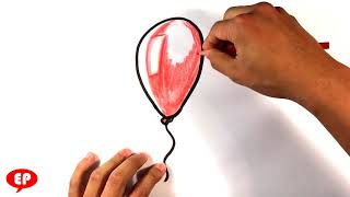 How to Draw Red Balloon from It Movie - Easy Pictures to Draw