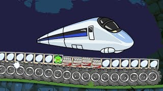 Bad Piggies - INTERESTING MONSTER TRAIN! SILLY LONGEST TRAIN INVENTIONS!!
