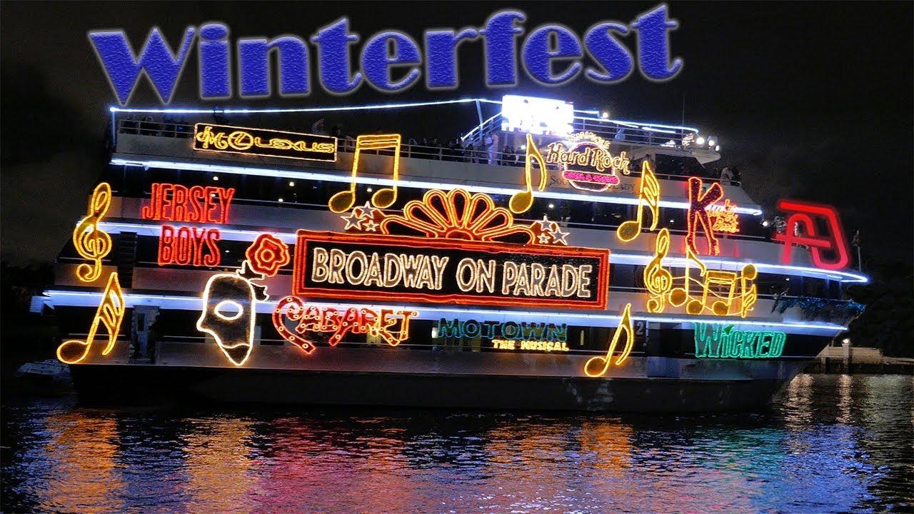 Fort Lauderdale Christmas Boat Parade.Winterfest Boat Parade 2017 Broadway On Parade Fort Lauderdale Florida